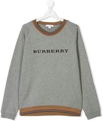 Burberry TEEN logo print sweatshirt