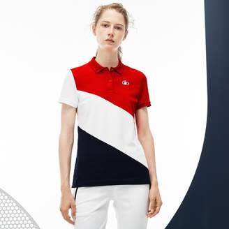 Lacoste Women's French Sporting Spirit Edition Colorblock Mini Pique Polo