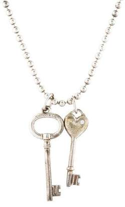 Tiffany & Co. Two Key Charm Pendant Necklace