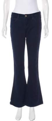 L'Agence Mid-Rise Wide Leg Jeans