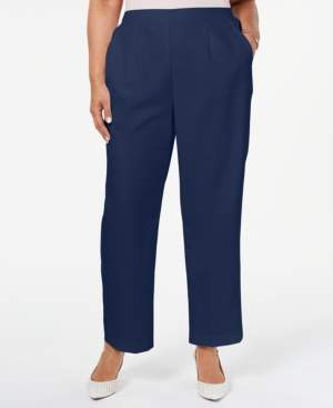 Alfred Dunner Plus Size In The Navy Pull-On Pants