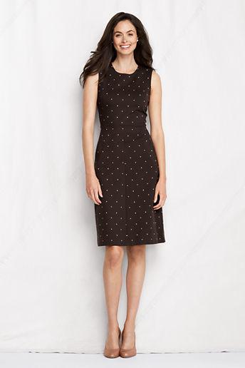 Lands' End Women's Petite Sleeveless Ponte Sheath Dress