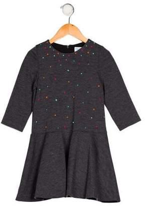 Luli & Me Girls' Long Sleeve Flared Dress