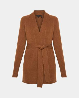 Theory Cashmere Belted Cardigan