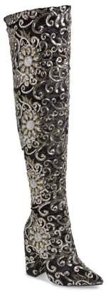 Ralph Lauren Lorraine Renni Embellished Over the Knee Boot