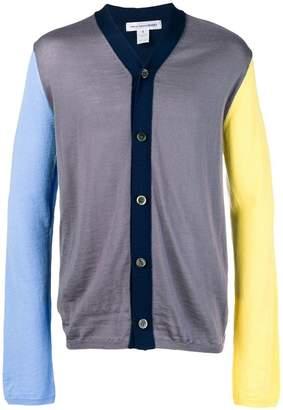Comme des Garcons colour-block fitted cardigan