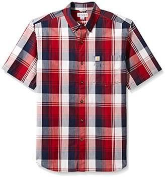 Carhartt Men's Big and Tall Essential Plaid Button Down Collar Ss Shirt