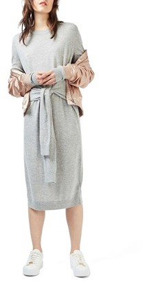 Women's Topshop Tie Waist Sweater Dress $85 thestylecure.com