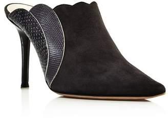 Chloé Women's Lauren Suede & Embossed Leather High-Heel Mules