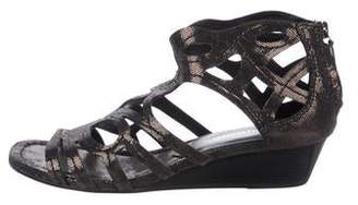 Donald J Pliner Suede Wedge Sandals