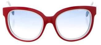 Balenciaga Gradient Oversize Sunglasses