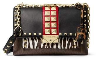 MICHAEL Michael Kors Cece Medium Animal-Print Convertible Shoulder Bag