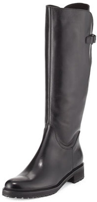 Sesto Meucci Wildee Adjustable Leather Knee Boot, Black $545 thestylecure.com