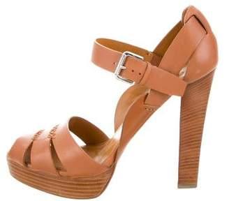 Ralph Lauren Leather Platform Sandals