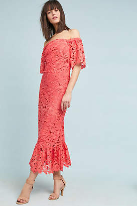 Shoshanna Venetian Off-The-Shoulder Lace Dress