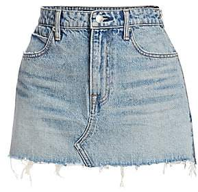 Alexander Wang Women's Zipper Denim Mini Skirt