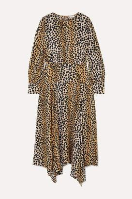 Rixo Elsa Leopard-print Crepe De Chine Midi Dress - Leopard print