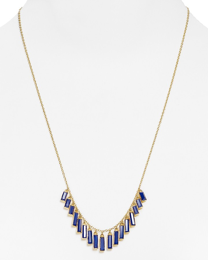 """Kate Spade Crystal Chips Necklace, 24"""""""