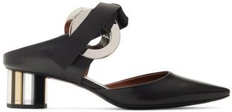 Proenza Schouler Black Grommet Mules