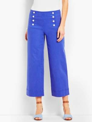 Talbots High-Waist Wide Crop