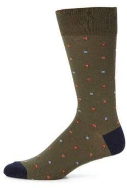 Saks Fifth Avenue COLLECTION Neat Geometric Socks