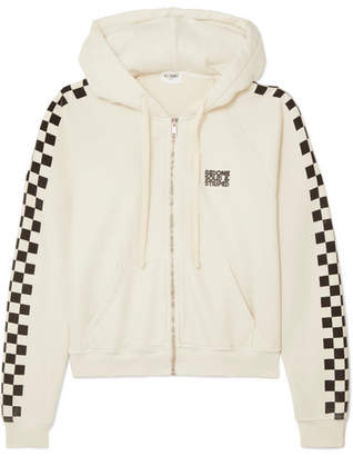 Solid & Striped Re/done The Malibu Printed Cotton-terry Hooded Top - Cream