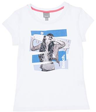 Bench Girl's Tee T-Shirt, (Bright White Wh11185), (Size: 11-12)