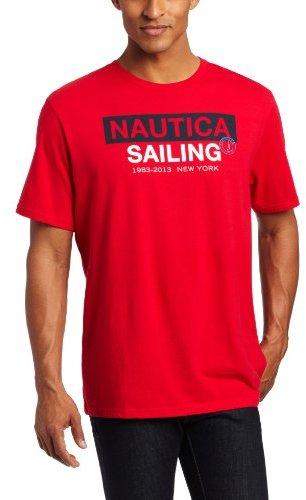 Nautica Men's Cotton Jersey Sailing Graphic Logo T-Shirt