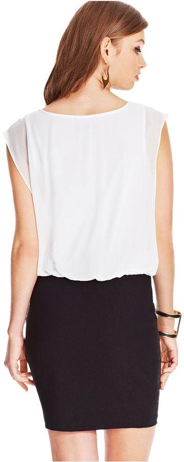 Amy Byer BCX Studded Blouson Dress