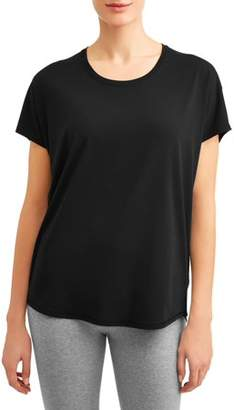 Athletic Works Women's Active Everwhere Short Sleeve Wrap Back T-Shirt