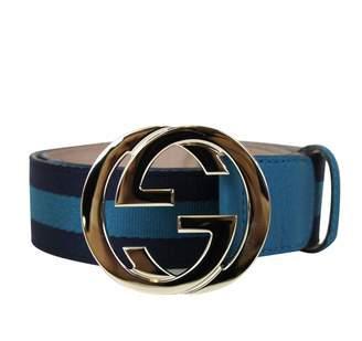 Gucci Unisex Interlocking G Leather Buckle Belt 114876 4174 (100/40)