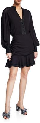 Veronica Beard Jasper Button-Front Short Dress