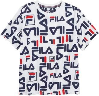 Fila All Over Logo Print T-Shirt