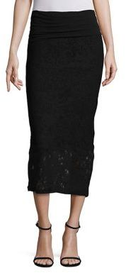 Fuzzi Lace Bodycon Midi Skirt $285 thestylecure.com