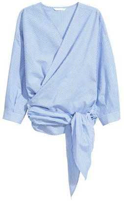 H&M Cotton Wrapover Blouse