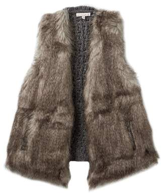 Ella Moss Faux Fur Vest (Big Girls)