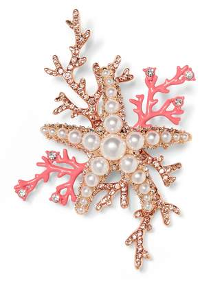 Banana Republic Coral Starfish Brooch