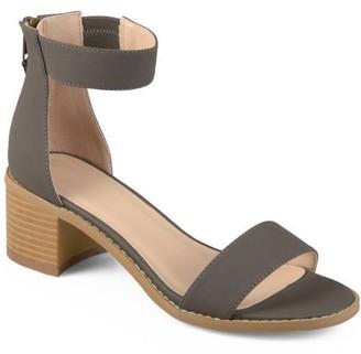 Co Brinley Womens Zipper Tassel Ankle Strap Sandals