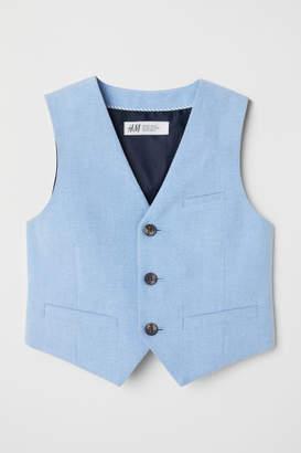 H&M Cotton Suit Vest - Blue