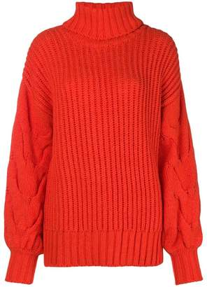 P.A.R.O.S.H. ribbed turtle neck jumper