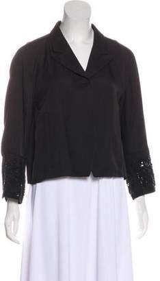 Dries Van Noten Silk Beaded Embellished Blazer