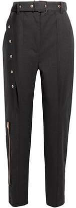 Proenza Schouler Belted Wool-Blend Straight-Leg Pants