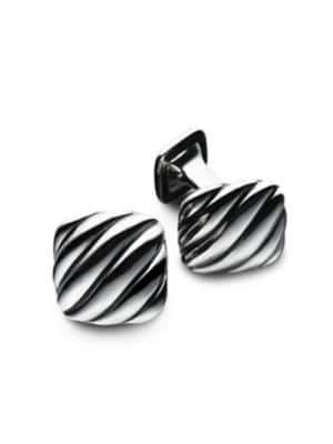 David Yurman Men's Silver Cushion Cuff Links