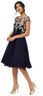 Chi Chi London - Navy Floral Lace Dress