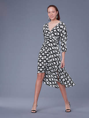 Diane von Furstenberg Eloise Asymmetric Mini Dress