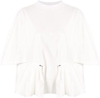 Toga zipped peplum blouse