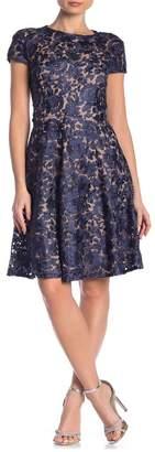 Marina Lace Fit & Flare Dress