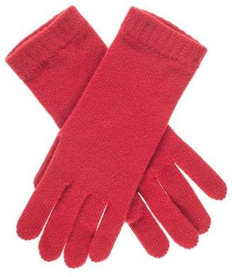 Black Ladies Red Cashmere Gloves