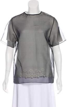 Joseph Silk Short Sleeve Top