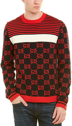 Gucci Gg Intarsia Cotton Sweater